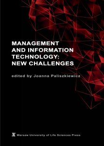 Management and Information Technology: New Challenges