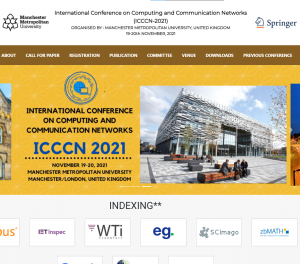 """Konferencja ,,International Conference on Computing and Communication Networks ICCC-2021"""""""