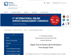 """Konferencja,,Digital Trust& Intuition@ the Workplace Food Supply Chain"""""""